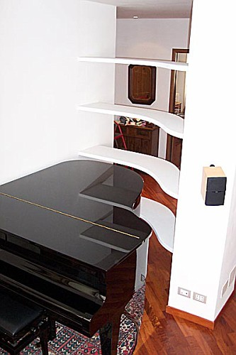 Mensole curve iv portfolio interiors dagallo for Mensole curve