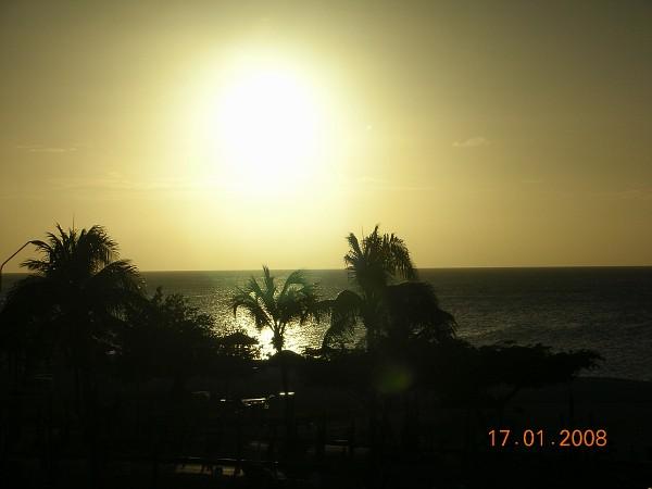 Eagle beach verso il tramonto