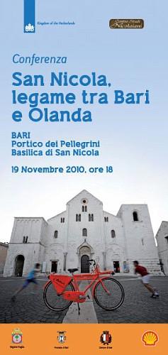Conferenza San Nicola, legame tra Bari e Olanda - Locandina