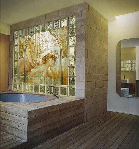 Vetromattone bagno vetromattone parete trasparente - Finestra interna per bagno cieco ...