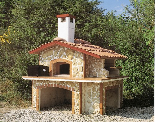 Forno esterno rivestito camini in pietra dercinporfidi - Forno pizza da esterno prezzi ...