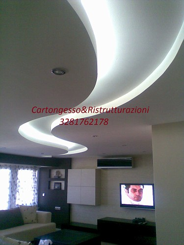 Idee soffitto cartongesso for Idee in cartongesso