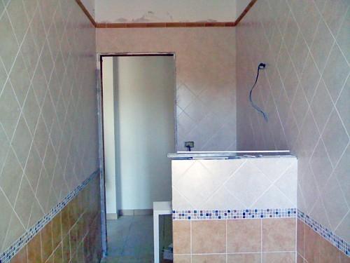 RIVESTIMENTO: bagno grande visto dalla finestra. Lamato ...