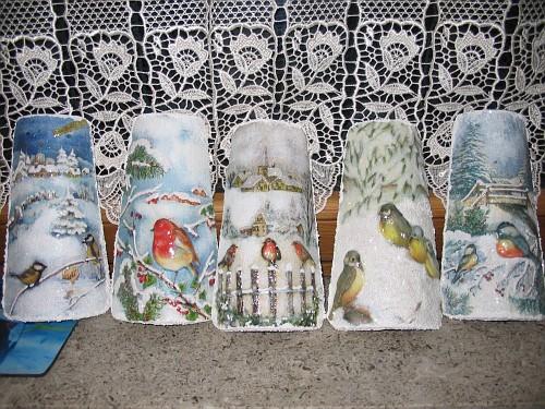 Uccellini sulla neve tegole decorate in rilievo il - Tegole decorate in rilievo ...