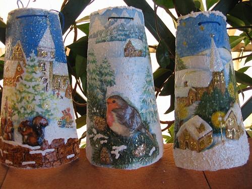 Scorci di paesaggi innevati tegole decorate in rilievo - Tegole decorate in rilievo ...