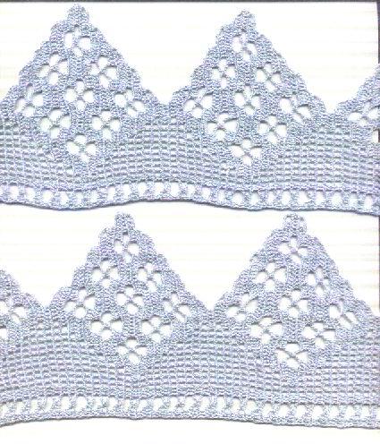 Bordi azzurri i miei lavori all 39 uncinetto alice for Lavori uncinetto bordi